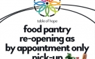 Food Pantry Re-Opening